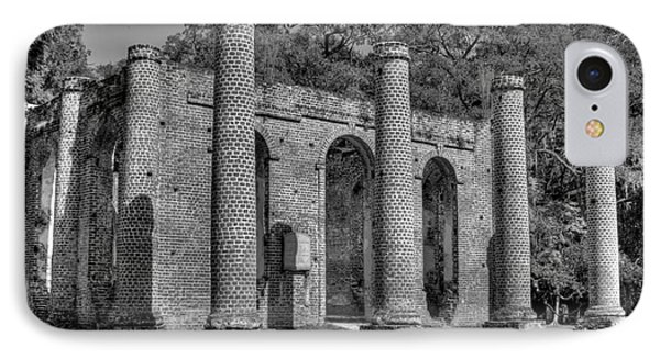 Old Sheldon Church 3 Black And White IPhone Case