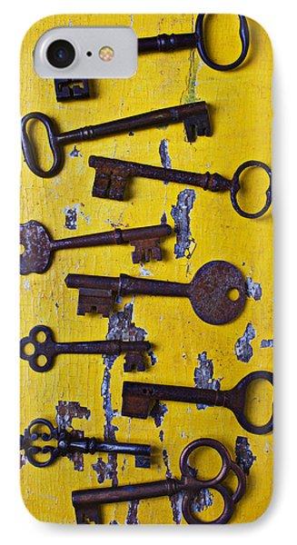 Old Skeleton Keys IPhone Case by Garry Gay