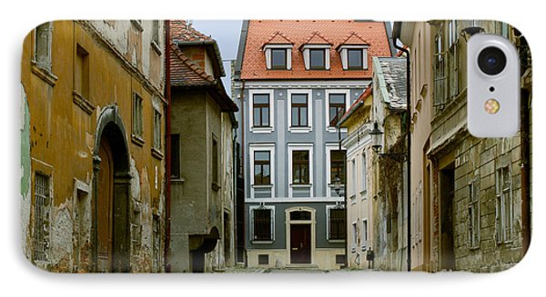 IPhone Case featuring the photograph Old Street In Bratislava by Les Palenik