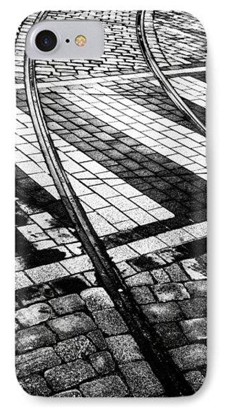 Old Tracks Made New Phone Case by Hakon Soreide