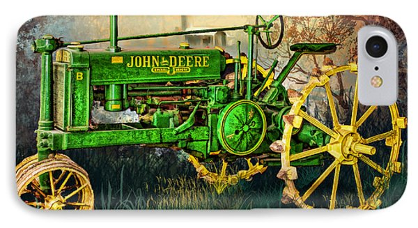 IPhone Case featuring the digital art Old Tractor by Mary Almond