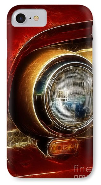 Old Truck Headlight Phone Case by Darleen Stry