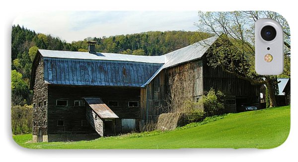 IPhone Case featuring the photograph Old Vermont Barn by Sherman Perry