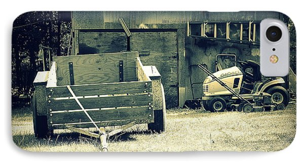IPhone Case featuring the photograph Old Wagon And Old Shed by Ester  Rogers