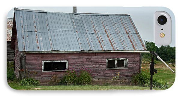 IPhone Case featuring the photograph Old Wood Shed  by Barbara McMahon