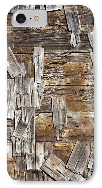 Old Wood Shingles On Building, Mendocino, California, Ca Phone Case by Paul Edmondson