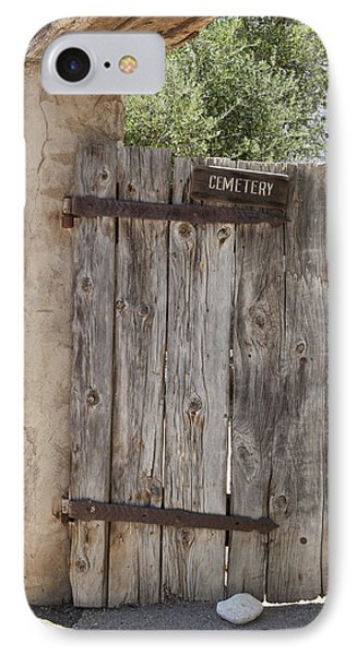 Old Wooden Cemetery Gate In The Adobe Phone Case by Douglas Orton