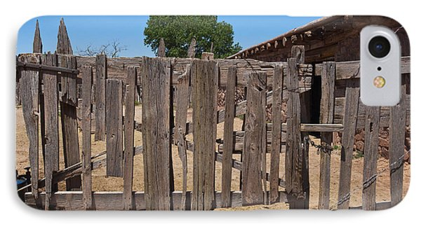 Old Wooden Fence Gate Phone Case by Thom Gourley/Flatbread Images, LLC