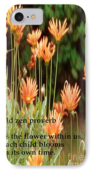 Old Zen Proverb Phone Case by Richard Donin