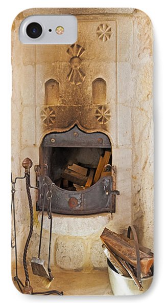 Olde Worlde Fireplace In A Cave  Phone Case by Kantilal Patel