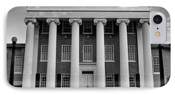 Ole Miss Lyceum Black And White IPhone Case by Joshua House