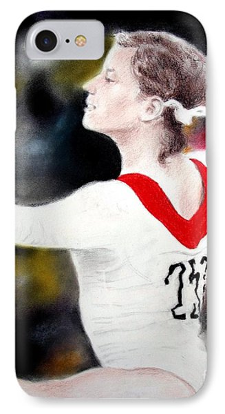 Olga Korbut Performing At The 1972 Summer Olympics In Munich Phone Case by Jim Fitzpatrick