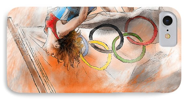 Olympics High Jump Gold Medal Ivan Ukhov Phone Case by Miki De Goodaboom