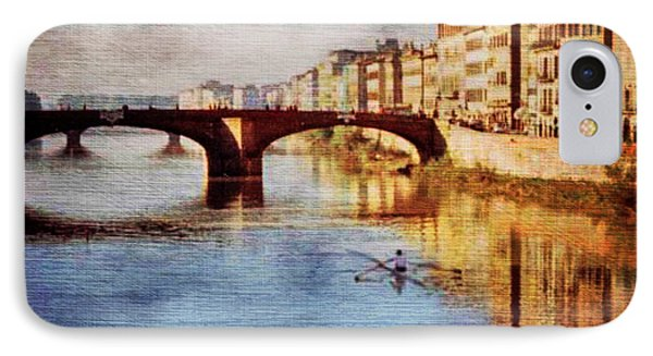 IPhone Case featuring the photograph On The Arno River by Deborah Smith