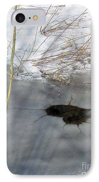 On The River. Heart In Ice 02 Phone Case by Ausra Huntington nee Paulauskaite
