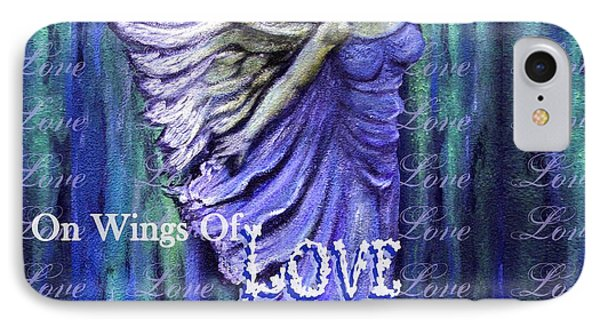 On Wings Of Love Angels Sing Phone Case by The Art With A Heart By Charlotte Phillips