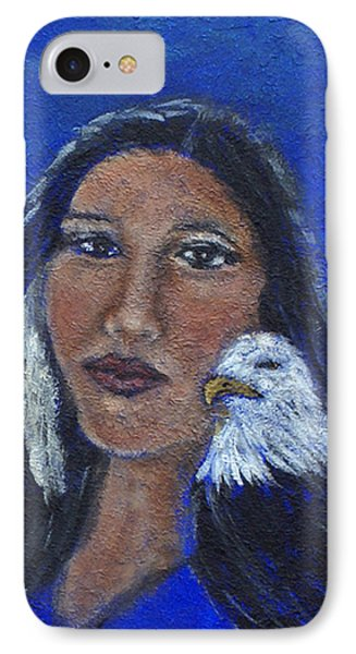 Onawa Native American Woman Of Wisdom Phone Case by The Art With A Heart By Charlotte Phillips