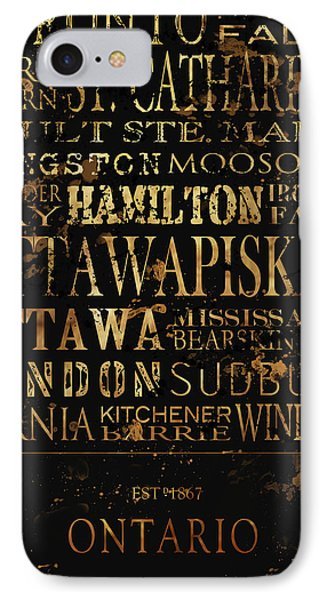 Ontario Typography Phone Case by Tanya Harrison