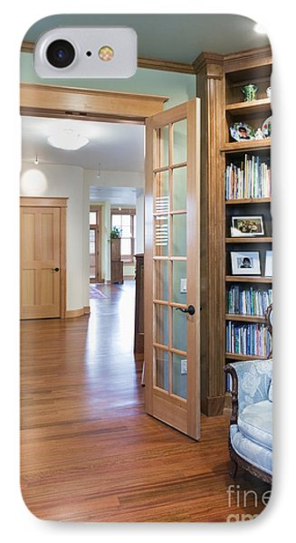 Open French Doors And Home Library Phone Case by Andersen Ross