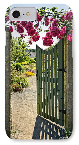 Open Garden Gate With Roses Phone Case by Elena Elisseeva