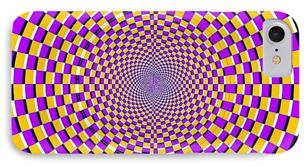 Optical Illusion Moving Cobweb Phone Case by Sumit Mehndiratta