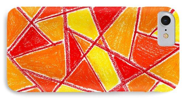 Orange Abstract Phone Case by Hakon Soreide