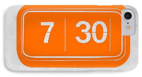 Orange Alarm IPhone Case by Naxart Studio
