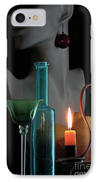 IPhone Case featuring the photograph Orange Candle by Elf Evans