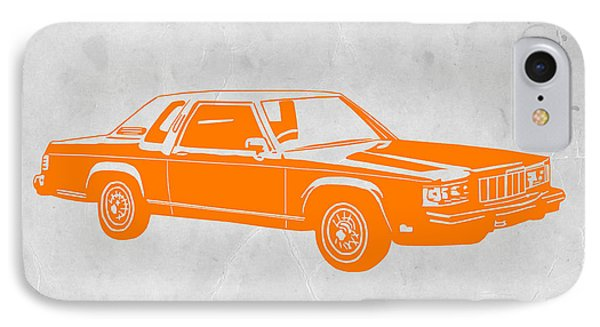 Orange Car IPhone Case by Naxart Studio
