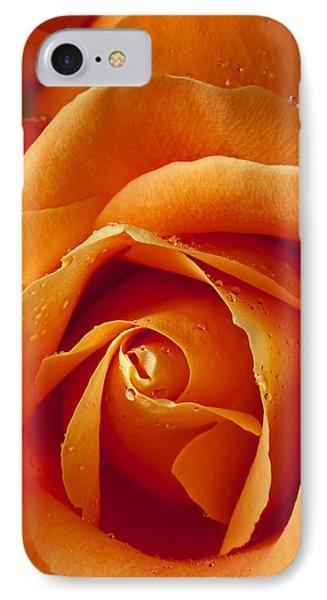 Orange Rose Close Up Phone Case by Garry Gay