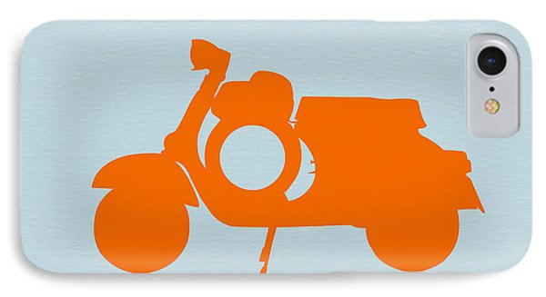 Orange Scooter IPhone Case by Naxart Studio