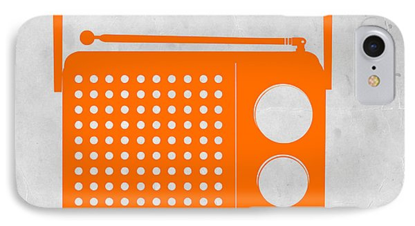 Orange Transistor Radio Phone Case by Naxart Studio