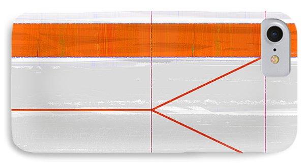Orange Triangle IPhone Case by Naxart Studio