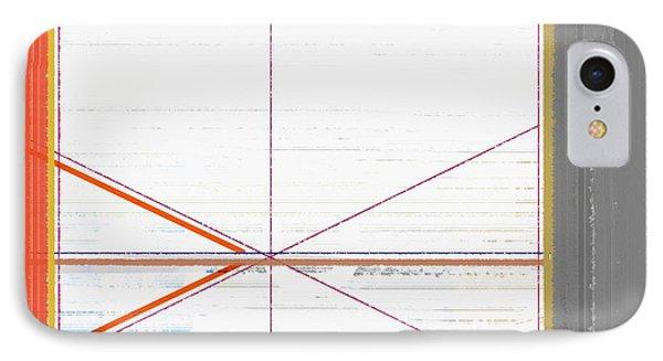 Orange Triangles With Grey IPhone Case by Naxart Studio