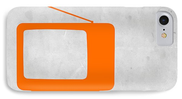 Orange Tv Vintage IPhone Case by Naxart Studio