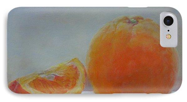 Orange Un Quart Phone Case by Muriel Dolemieux