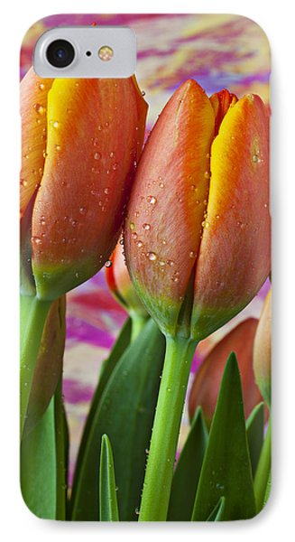Orange Yellow Tulips IPhone Case