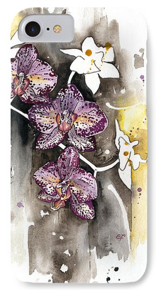 IPhone Case featuring the painting Orchid 13 Elena Yakubovich by Elena Yakubovich