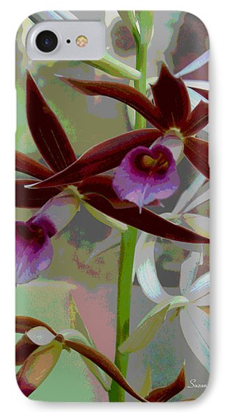 Orchid Sonata Phone Case by Suzanne Gaff