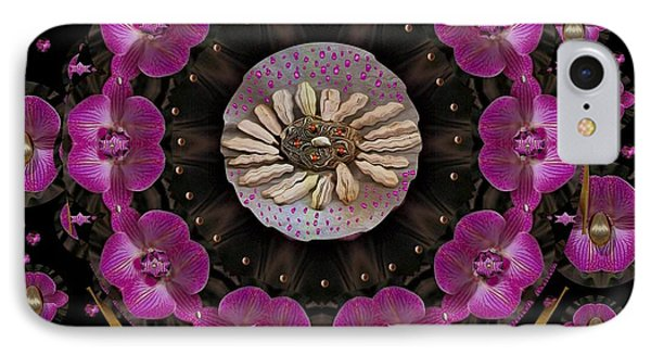 Orchids And Fantasy Flowers Phone Case by Pepita Selles