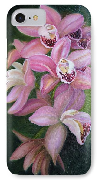 IPhone Case featuring the painting Orchids by Marlyn Boyd