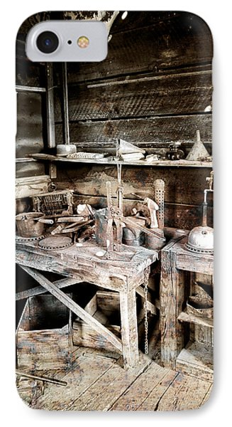 Ore Assay Shop Work Bench - Molson Ghost Town IPhone Case