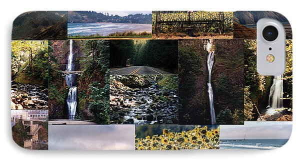 Oregon Collage From Sept 11 Pics IPhone Case by Maureen E Ritter