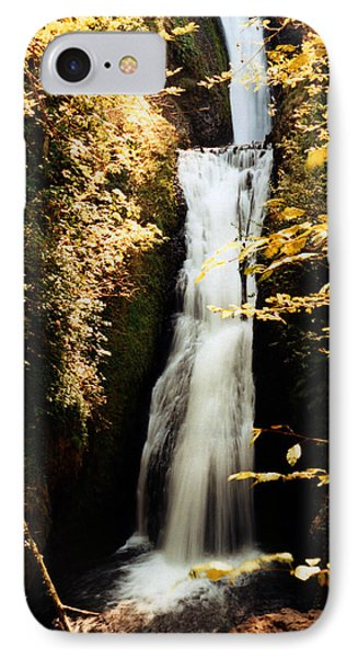 IPhone Case featuring the photograph Oregon Waterfall Yellows by Maureen E Ritter