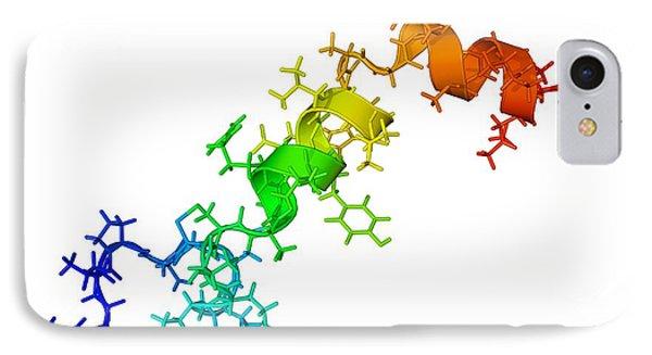 Orexin-a Hormone Molecule Phone Case by Laguna Design