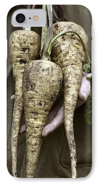 Organic Parsnips Phone Case by Maxine Adcock