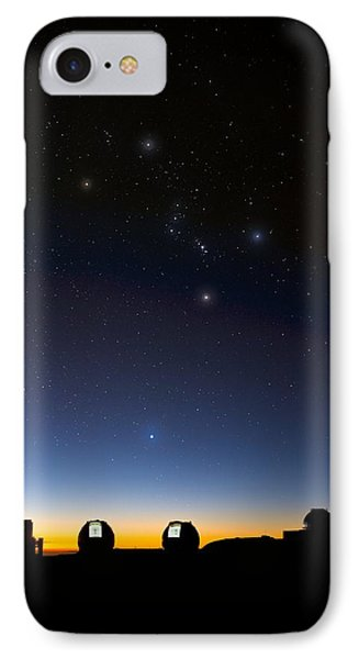 Orion And Observatories, Hawaii IPhone Case