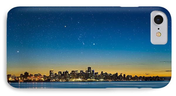 Orion Over Vancouver, Canada Phone Case by David Nunuk