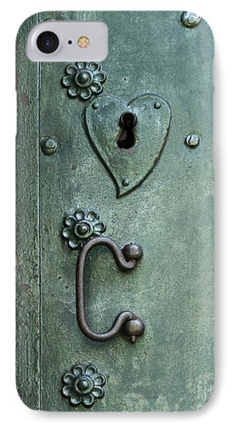 IPhone Case featuring the photograph Ornamental Metal Doors In Teal by Agnieszka Kubica