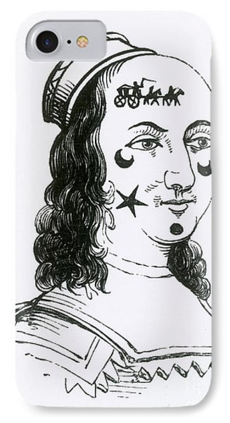 Ornamental Patches On Face, 17th Century Phone Case by Photo Researchers